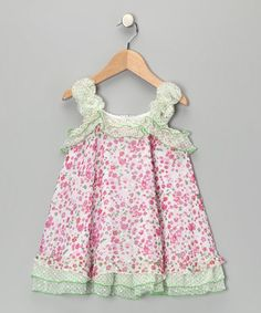 Take a look at this April Flower Rosette Ruffle Dress - Toddler & Girls by Lipstik Girls on #zulily today!