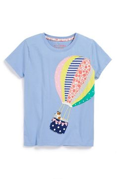 Mini Boden Patchwork Appliqué Tee (Toddler Girls, Little Girls & Big Girls) available at #Nordstrom