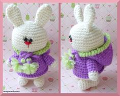 Amigurumi Bunny In The Hood - pattern in Russian