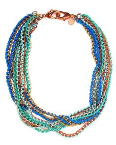 Ocean wrapped chain necklace