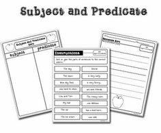 1000+ images about Subject & Predicate on Pinterest | Subject and ...