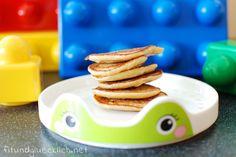 Gesunde Bananen Erdnussbutter Mini Pancakes, nicht nur was für Kinder / Clean Eating banana peanut butter mini pancakes - not only for little ones