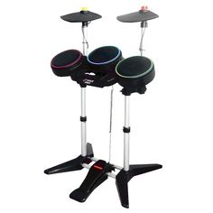Universal Wireless Drum Kit With Double Cymbals  Supports Rock Band 1, Rock Band 2, & Guitar Hero World Tour Games  Designed To Work with Playstation 2 & 3 (PS2/PS3) & Nintendo Wii Gaming Consoles  Game Not Included  Sold as : Kit