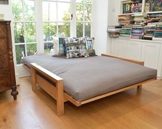 Quad - 2 Seater Solid Birch Double Sofa Bed