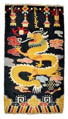 Black Dragon Meditation Rug Yoga