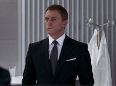 James Bond Tom Ford suit, not black, very dark charcoal