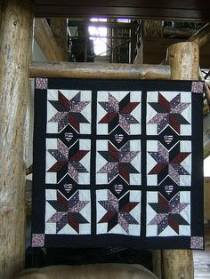 Starburst Wall Hanging Lap Quilt or Table Topper by CoyotteeGirl, $85.00