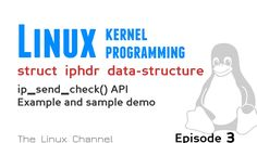 ip_send_check() API Example and sample demo - Linux Kernel struct iphdr ...
