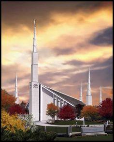 Boise Temple by Brent Borup