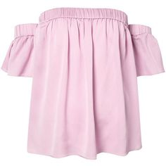 Milly off the shoulder blouse (110 BHD) ❤ liked on Polyvore featuring tops, blouses, shirts, t-shirts, off shoulder shirt, pink top, milly tops, shirt blouse and pink off the shoulder shirt