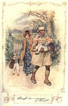 """""""Brought home in consequence of a bad fall."""" Persuasion, Jane Austen"""