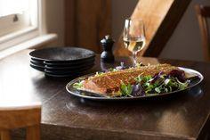 Cedar planked Huon salmon with lemon beurre blanc sauce #HuonSalmon