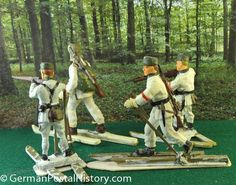 Thumbnail image 3 for Germany Antique Elastolin Snow Skiers Toy Soldiers