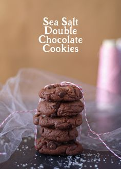 Sea Salt Double Chocolate Cookies. 'Cause.. the holidays.