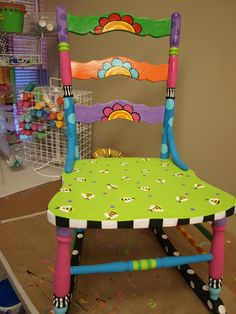 Bumblebees painted on a rocking chair?  Yes, please! Dreaming Bear Designs Dori Patrick