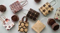 100均の折り紙で作るちいさな紙袋♪  Mini Paper Bag DIY
