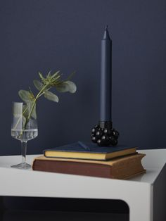 Molekyl 1 black candle holder by Gejst Dark Colors, Bright Colors, Colours, Black Candle Holders, Bright Homes, Candles, House Styles, Interior, Inspiration