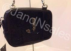 Juicy Couture Black Quilted Velour Tech Mini Wristlet Wallet YSRUO102 #JuicyCouture #Wristlet