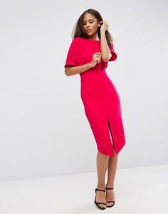 the Style Shake | Fashion / Shopping / Style | SALE | ASOS TALL Wiggle Dress with Split Front in virtual pink  £29.00 (reduced from £42.00)