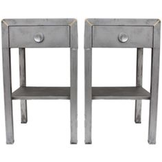 Norman Bel Geddes - Metal End Tables (c1960)