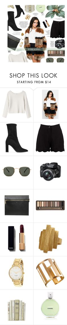 """""""TYPEALPHA - Contest"""" by maria-polyvore ❤ liked on Polyvore featuring Monki, Stuart Weitzman, Boohoo, Ray-Ban, Fujifilm, Urban Decay, Whiteley, Pernille Corydon, Kate Spade and ADIN & ROYALE"""