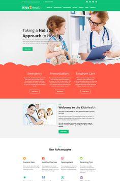 Pediatrician Moto CMS HTML Template #64192