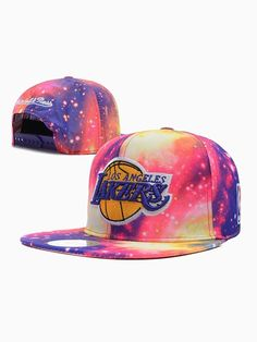 Colorful Starry Sky Los Angeles Lakers Cap
