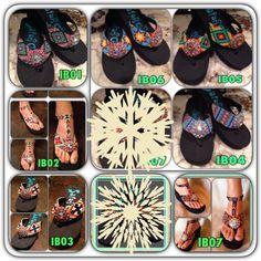 T strap flip flops