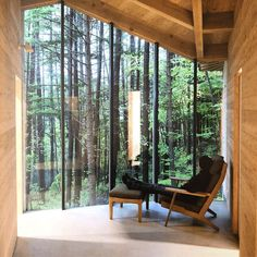Simplicity in Nature. Inbetween House, Chubu, Japan. Seamlessly blending into the landscape, surrounded by Japanese larch trees. One of many examples of inspiring architecture to be found in ROCK THE SHACK - The Architecture of Cabins, Cocoons and Hide-Outs. Now in stock online or in-store @originaleditions.com.au . . . #original_editions #summerhill #innerwest #innerwestsydney #ChubuJapan #Japanesearchitecture #japaneseculture #kojitsutsui #rocktheshack #gestalten #architecture #cabins… Larch Tree, Summer Hill, Japanese Architecture, Japanese Culture, Porch Swing, Outdoor Furniture, Outdoor Decor, Living Area, Windows