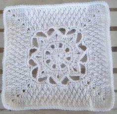 Snow Day Crochet Granny Square