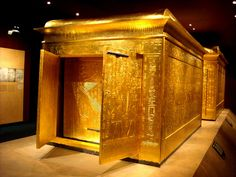 *EGYPT ~ Second sarcophagus of Tutankhamun