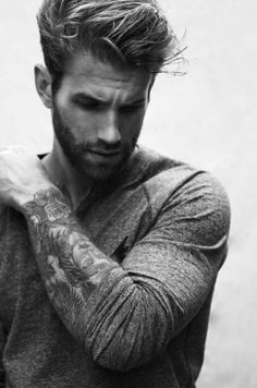 fashion perfect style classic b&w class tattoo outfit men tattooed classy menswear hairstyle handsome beard haircut men style Men's wear outwear menfashion b&w photography classy blog men tattoos
