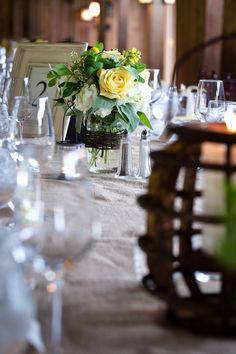 Country Wedding Table Decor