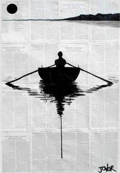 Loui Jover рисунки на книжных страницах Интересный подход к изобразительному искусству художника Loui Jover. Для своих рисунков он использует чернила и страницы из книг. Если к чернилам у на