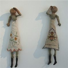 More Dolls by Kate Fitzharris. I nice marriage of ceramic and textile.