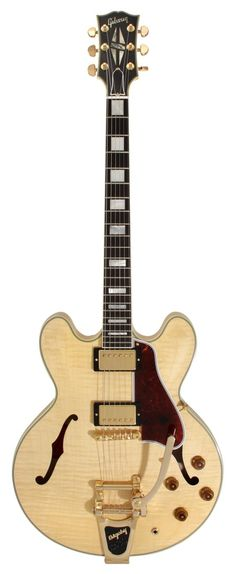 Gibson Custom Shop Electric Guitar ES 355 Curly Maple Antique Natural with Bigsby   Rainbow Guitars