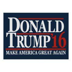 Donald Trump 2016 'Make America Great Again' Poster