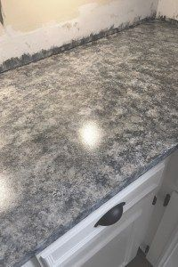 Kitchen Laminate Countertop Transformation Using Giani Granite