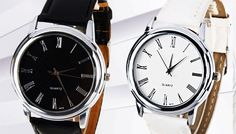 Faux Leather Ziva Watch - 2 Colours Add some elegance to your wrist with a Faux Leather Ziva Watch      Available in black or white      Stylish dial has a scratch resistant metal coating      Strap is made from high quality artificial leather      Will match any work outfit,evening outfit and more      Please see Full Details for specifications      Save 82% on a Faux Leather Ziva Watch for...