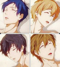 Rei,Nagisa,Makoto and Haruka Hot Anime Guys, I Love Anime, Anime Boys, Rin Matsuoka, Makoto, Otaku, Swimming Anime, Splash Free, Free Eternal Summer