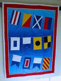 Come Sail Away Baby Quilt Crib Lap Nautical by WeeOnesStitches, $149.00