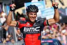 Philippe Gilbert celebrates his second stage win of the 2015 Giro d/Italia.