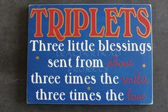 Triplets Three Little Blessings by Leatherhead on Etsy, $20.00