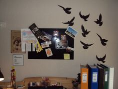 I needed something decorative to fill my wall - how about some beautiful birds?