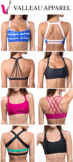 This site has the cutest sports bras! Look at all of these gorgeous backs!