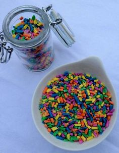 make your own sprinkles and dots!! yay!!    http://www.instructables.com/id/DIY-Sprinkles/
