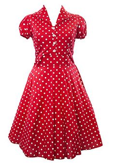 Sidecca Retro 1950s Vintage Housewife Collar Swing Dress-Red-Small Sidecca http://www.amazon.com/dp/B00LIYM2SU/ref=cm_sw_r_pi_dp_-TSkub0TKPTHB