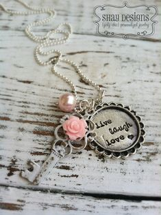 Stamped Sayings Girly Chic Style with Vintage Key