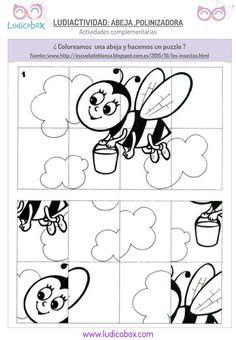 Polinización de las abejas: actividades para niños.