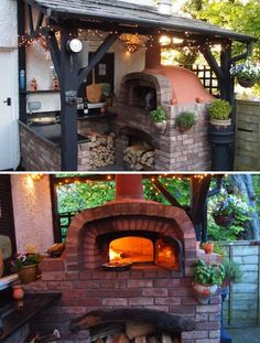 28 Outdoor Wood-fired Ovens Help to Jazz Up Your Backyard Time - HomeDesignInspired Wood Oven, Wood Fired Oven, Outdoor Entertaining, Outdoor Cooking, Pizza Oven Outdoor, Fire Pizza, Bbq Area, Outdoor Sheds, Summer Kitchen